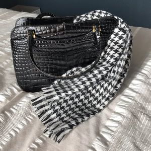 Accessories - Classic Warm Black & White Houndstooth Scarf